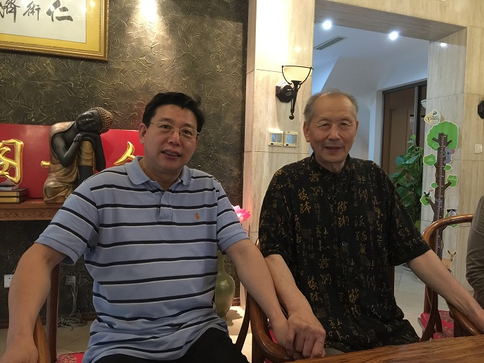 On July 20, 2016, Beijing, Dr. Decheng Chen visited Professor Enguang Geng of Beijing University of Traditional Chinese Medicine