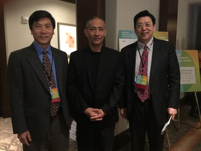 With Dr. Haihe Tian, the President of American Alumni Association, and Dr. Nan Lu