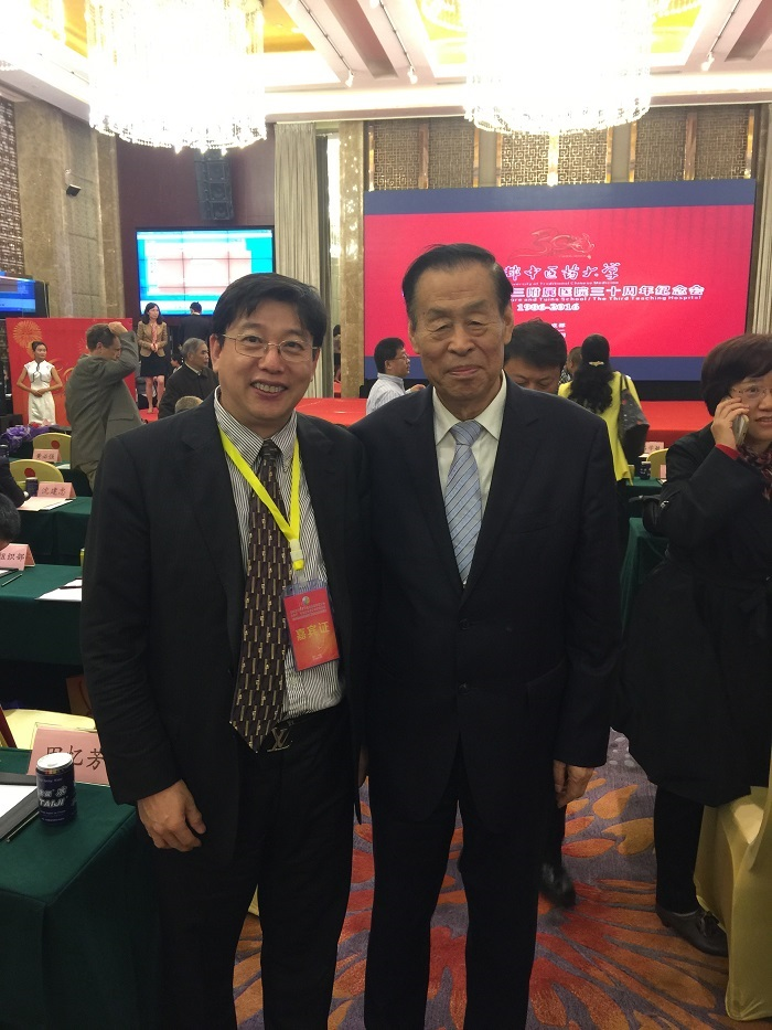 With Professor Xuemin Shi,  the National Medical Master and Academician of Chinese Academy of Sciences